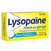 LysopaÏne Comprimés à Sucer Maux De Gorge Sans Sucre 2t/18 à Seysses
