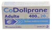 CODOLIPRANE ADULTES 400 mg/20 mg, comprimé sécable à Seysses