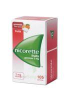 Nicorette 2 Mg Gomme à Mâcher Médicamenteuse Sans Sucre Fruits Plq/105 à Seysses