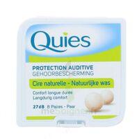 QUIES PROTECTION AUDITIVE CIRE NATURELLE 8 PAIRES à Seysses