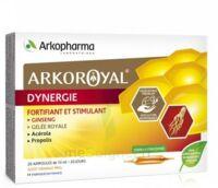 Arkoroyal Dynergie Ginseng Gelée Royale Propolis Solution Buvable 20 Ampoules/10ml à Seysses