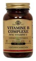SOLGAR VITAMINE B COMPLEXE avec vitamine C /100 à Seysses