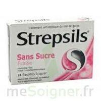 STREPSILS FRAISE SANS SUCRE, pastille édulcorée à l'isomalt, au maltitol et à la saccharine sodique à Seysses