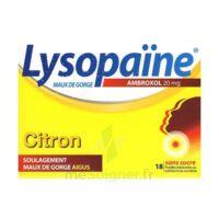 LysopaÏne Ambroxol 20 Mg Pastilles Maux De Gorge Sans Sucre Citron Plq/18 à Seysses