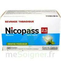 Nicopass 2,5 mg Pastille menthe fraîcheur sans sucre Plq/96 à Seysses