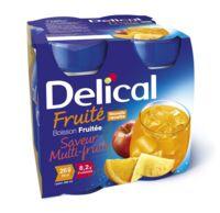 Delical Boisson Fruitee Nutriment Multi Fruits 4bouteilles/200ml à Seysses