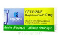 Cetirizine Biogaran Conseil 10 Mg, Comprimé Pelliculé Sécable à Seysses