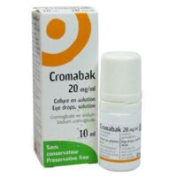 CROMABAK 20 mg/ml, collyre en solution à Seysses