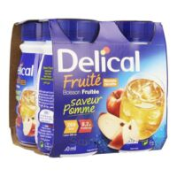 DELICAL BOISSON FRUITEE Nutriment pomme 4Bouteilles/200ml à Seysses