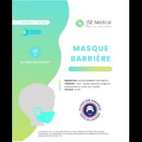 Masque Barrière Non Médical Enfant (4/10 Ans) Blancs B/6 à Seysses