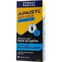 Apaisyl Anti-poux Xpress 15' Lotion Antipoux Et Lente 200ml+peigne à Seysses