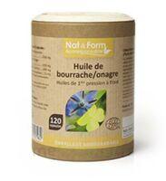 Nat&form Eco Responsable Huile De Bourrache+onagre Bio+vitamine E Caps B/120 à Seysses