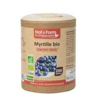 Nat&form Eco Responsable Myrtille Bio Gélules B/200 à Seysses