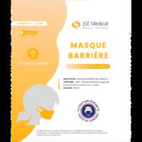 Masque Barrière Non Médical Enfant (11/16 Ans) Blancs B/6 à Seysses
