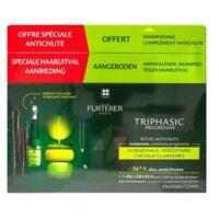 René Furterer Triphasic Progressive Sérum Antichute Coffret 8 Flacons X 5,5ml + Shampoing Stimulant 100 Ml à Seysses